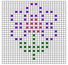 Ravelry: Flower Bobble Chart pattern by Kari Philpott