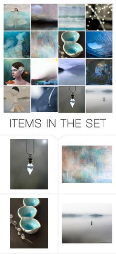 """""""Properties of Water -We'll find a place by the water's edge"""" by info-3buu ❤ liked on Polyvore featuring art, artflashmob, etsyflashmobshopcollection and etsyart"""