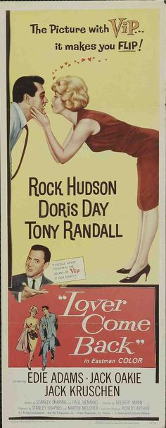Lover Come Back Rock Hudson, Doris Day and Tony Randall1961