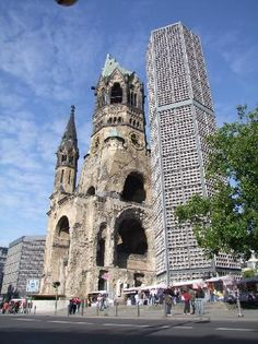 Kaiser Wilhelm Gedachtniskirche, Berlin, Germany: Bombed church near Kurfurstendamm retained as a memorial.