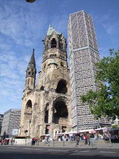 Kaiser Wilhelm Gedachtniskirche, Berlin, Germany: Bombed church near Kurfurstendamm retained as a memorial.