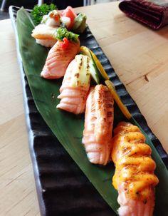 Salmon aburi nigiri #sushi