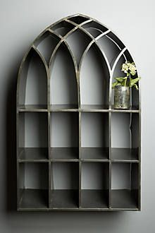 """anthropologie archway shelf, $498, •40""""H, 24""""W, plus 10"""" from wall."""