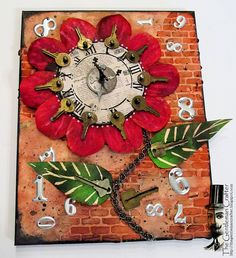 The Gentleman Crafter: The Clock Flower Canvas-Done!