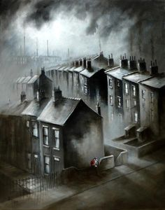 Bob Barker is a UK based artist, born and bred in Yorkshire. It's taken Bob Barker twenty years for his long time love of painting to evolve from a hobby to the point where interest in his work has taken on worldwide awareness. Landscape Drawings, Watercolor Landscape, Landscape Art, Urban Landscape, Watercolor Painting, Art Drawings, Industrial Paintings, Skyline Painting, Art For Art Sake