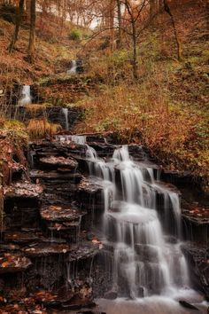 Autumnal Wales... These cascades were man-made in the 1740's but have since been absorbed by their natural surroundings in the Vale of Neath to form a beautiful sight, particularly in autumn by Alun Davies on 500px.