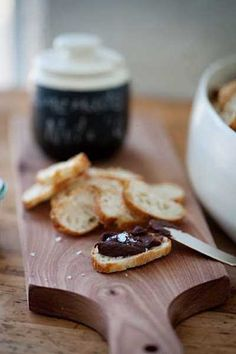 Homemade Nutella with sea salt.