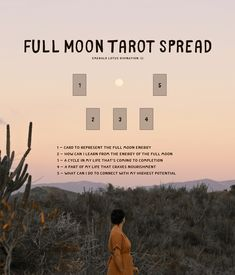 Full Moon Tarot Spread Layout — Emerald Lotus Divination - - View the complete list of free tarot spreads. Full Moon In Sagittarius, Full Moon In Cancer, Tarot Card Spreads, Tarot Cards, Leo Tarot, Full Moon Ritual, Full Moon Spells, Tarot Learning, Harvest Moon