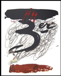 Premium Edition: Expo 72 - Festival de Cadaquès by Antoni Tapies : Abstract Expressionism, Abstract Art, Picasso Cubism, Art Informel, Mixed Media Art, Find Art, Framed Artwork, Contemporary Art, Dibujo