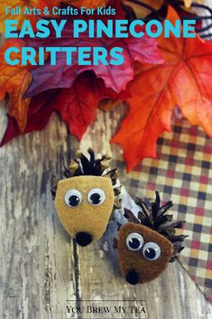 Fall Arts And Crafts for kids like this simple pinecone critters project are…
