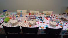 DIY verjaardag knutselfeest tafel!