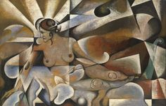 https://flic.kr/p/21tiDij | Vladimir Baraboff-Rossiné - Femme Cubiste | Vladimir Baraboff-Rossiné (Kherson, Ukraine, 1888 - 1944) was a Ukranian avant-garde artist. in 1925 he emigrated to France and during the German occupation was deported to a German concentration camp and murdered there by the Nazis.  [MacDougall's Fine Art Auctions - Oil on canvas, 101 x 153.5 cm]