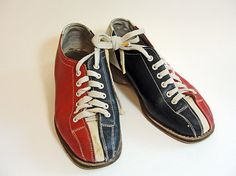 Vintage Bowling Shoes Women's Size 4 Gold Cup by RetrofitStyle, $29.00 #vintagebowlingalleyshoes