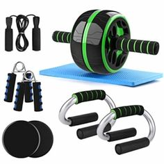 6-IN-1 AB Roller Addominali Set: Odoland Ab Roller Set 6-in-1 Include:1x rullo per addominali, 1x paio di maniglie per flessioni, 1 paio di dischi scorrevoli, 1x corda per saltare, 1x paio di pinza mano, 1x tappetino di protezione per il ginocchio.Per Addomin : puoi usare AB… Altri prodotti simili su Amazon.it Odoland AB Wheel Roller […] Questa offerta Odoland Ab Roller Set 6-in-1 incl. AB Wheel Roller, 2 Maniglie per Flessioni, Corda per Saltare,2 Pinza Mano, 2 Dischi Scorrevoli, Ta Ab Wheel Workout, Exercise Wheel, Push Up Bars, Ab Roller, Strength Training Equipment, Body Training, Gym Equipment, Crossfit, Workout Exercises