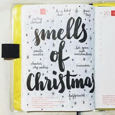 What smells do you associate with Christmas? #journal #hobonichi #planner…