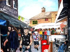 Jacqueline Norman - Camden Market 2 - Artists & Illustrators - Original art for sale direct from the artist