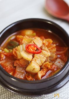 I Want To Eat, Korean Food, Soups And Stews, Thai Red Curry, Food And Drink, Menu, Cooking, Ethnic Recipes, Foods