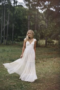 Grace loves lace Charlotte dress #Bohemian #Boho #Bohobride #weddingdress #bohoweddingdress #beachbride #countrywedding #vintagewedding