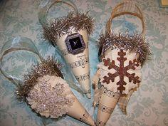 Victorian Christmas Paper Cones