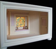 very nice mother goose window seat room box - perfect for a nursery or child's bedroom
