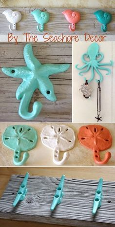 Coastal Decorations with a Splash of Color great idea for the octopus !