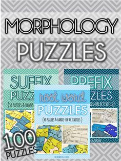 A Set of 100 Puzzles for practicing prefixes, Greek/Latin root words, and suffixes!