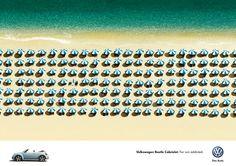 Volkswagen: Umbrellas     Volkswagen Beetle Cabriolet. For sun addicted.  Advertising Agency: DDB, Milan, Italy