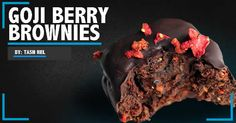 BROWNIES.... Mmmm. But are they healthy? Now they are. Try this delicious GOJI BERRY BROWNIE recipe! Brownie Recipes, Brownies, Berry, Nutrition, Healthy, Desserts, Food, Cake Brownies, Tailgate Desserts