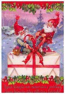 Arias/Vernet, Christmas folding card 11 x 16, Estonia