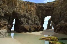 ПляжCatedrales в Рибадео Испания