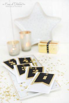 Adventskalender No. 23 – schwarz-gold & weiss I Casa di Falcone