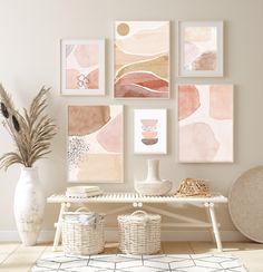 Wall Art Sets, Wall Art Prints, Orange Art, Burnt Orange, Palette Wall, Gold Wall Decor, Wooden Wall Art, Modern Prints, Cool Walls