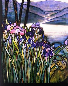 LOUIS COMFORT TIFFANY-MAGNOLIAS AND IRISES