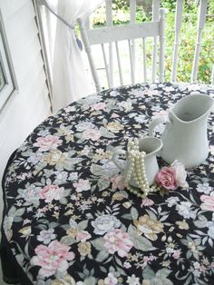 Round Tablecloth Frilled Tablecloth Shabby By Mailordervintage