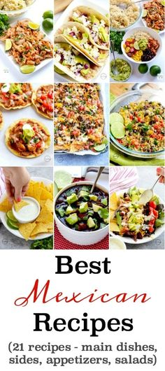 21 of the BEST Mexican and Tex Mex recipes that are perfect for Cinco de Mayo or anytime. #mexican #texmex #cincodemayo