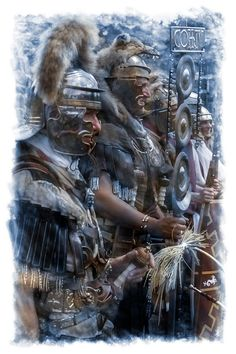 Roman legionnaires of the Legio I Germanica. I'll share 10 pictures per day on the Cultural holiday. Rome History, History Photos, Ancient Rome, Ancient Greece, Roman Centurion, Roman Warriors, Roman Legion, Medieval World, Roman Soldiers