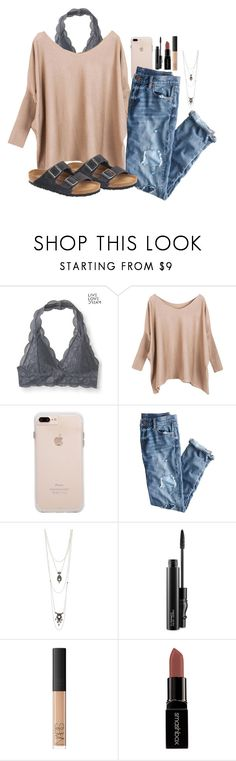 """Untitled #103"" by j2205 ❤ liked on Polyvore featuring Aéropostale, J.Crew, Charlotte Russe, MAC Cosmetics, NARS Cosmetics, Smashbox and Birkenstock"
