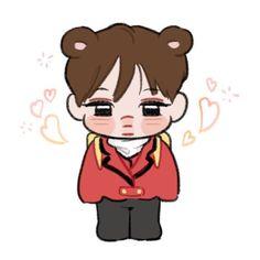 Kai Arts, Types Of Boyfriends, Exo Fan Art, Exo Korean, Kaisoo, Exo Kai, Kpop Fanart, Cute Art, Boy Groups