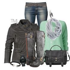 """""""Steel"""" by tmlstyle on Polyvore"""