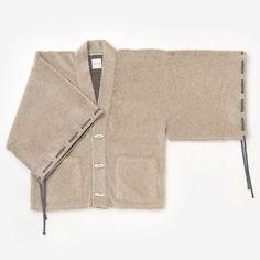 Haori Cardigan Wool Blend Sand Beige Unisex