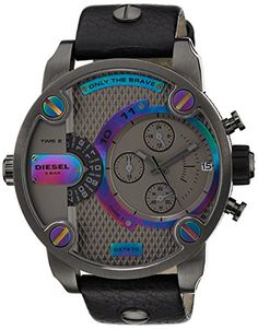 Diesel Herren-Armbanduhr XL Little Daddy Chronograph Quarz Leder DZ7270 - http://uhr.haus/diesel/diesel-herren-armbanduhr-xl-little-daddy-quarz