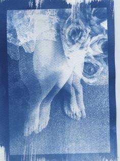 Athena Kathem-self portrait-cyanotype