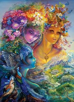 Hi Guys! FYI~I've started a Josephine Wall Board to showcase her beautiful work. LOTS of magical pins. Check it out! ~ Andra W. ~~ Josephine Wall |The Three Graces