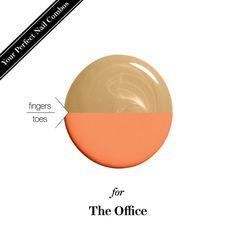Mani-pedi nail-polish combo for the office