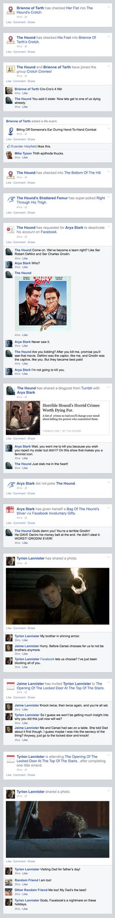 If Game of Thrones took place entirely on Facebook - The Season 4 Finale. | GoT Recap Season 4 | Happy Place