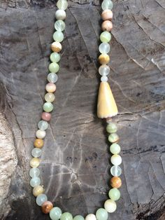 Hawaiian Cone Shell Lei Necklace by FlatteryDesigns on Etsy