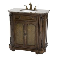 Ambella Home 10407-110-301 Camille Etched Sink Chest | ATG Stores