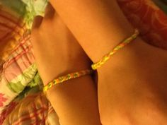 Just made friend ship bracelet with my BFF