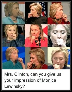 Hilary showing her impression of Monica