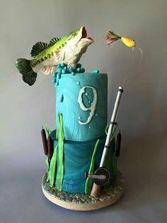 Sara's Sweets Austin Fondant Cakes, Cupcake Cakes, Cupcakes, Beautiful Cakes, Amazing Cakes, Funny 50th Birthday Cakes, Fisherman Cake, Dad Cake, Occasion Cakes